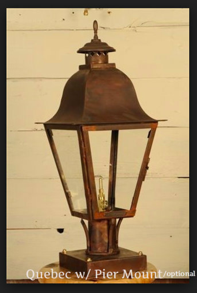 St. James Quebec Copper Lantern