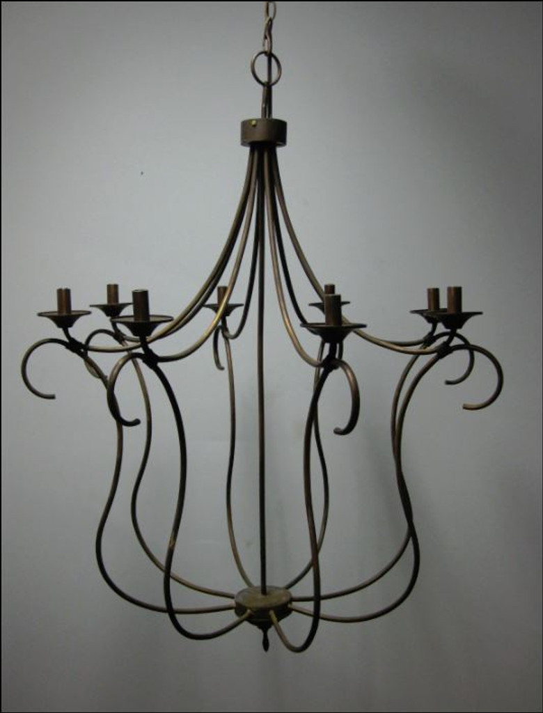 St James Long Island Copper Chandelier