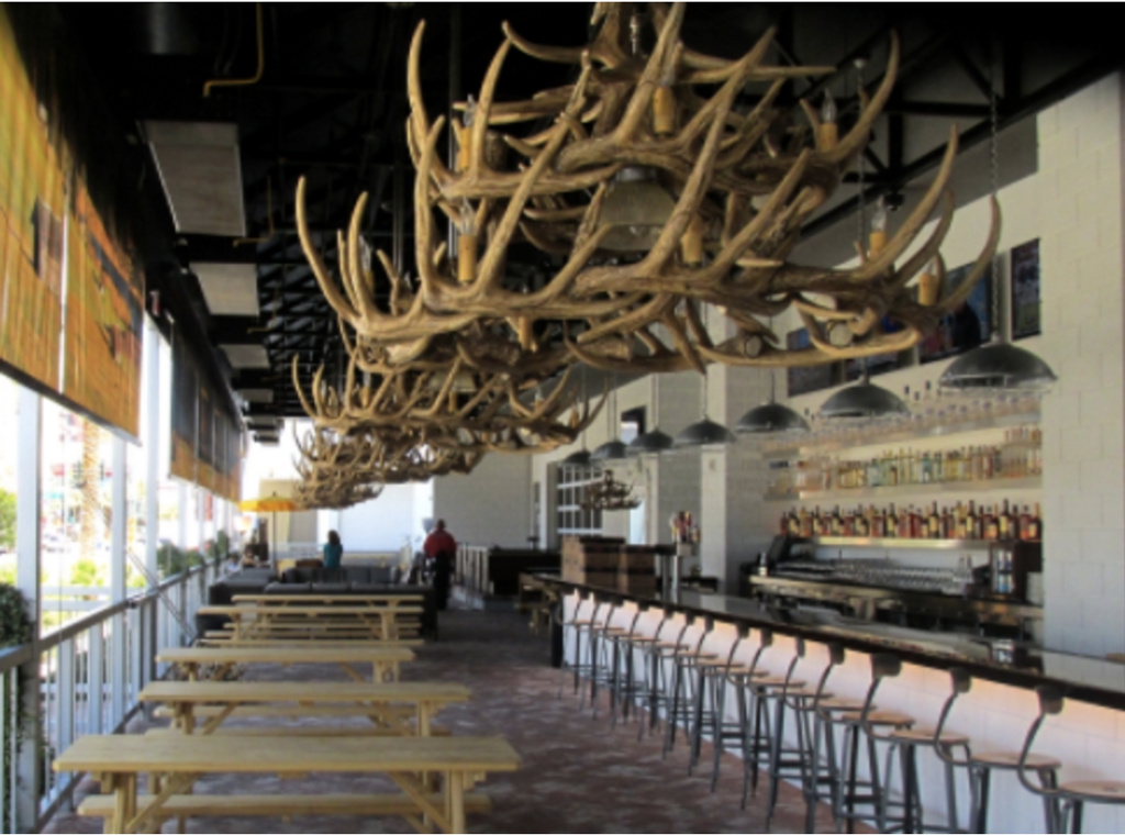 """The River Drive Cast Antler Chandelier,42""""Wide by 26""""Tall"""