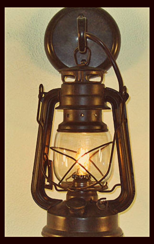 Rustic Lantern Wall Sconce,Small