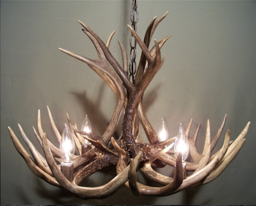 Discount deer antler chandelier free shipping michigan deer antler chandelier 23 wide x 16 tall mozeypictures Gallery