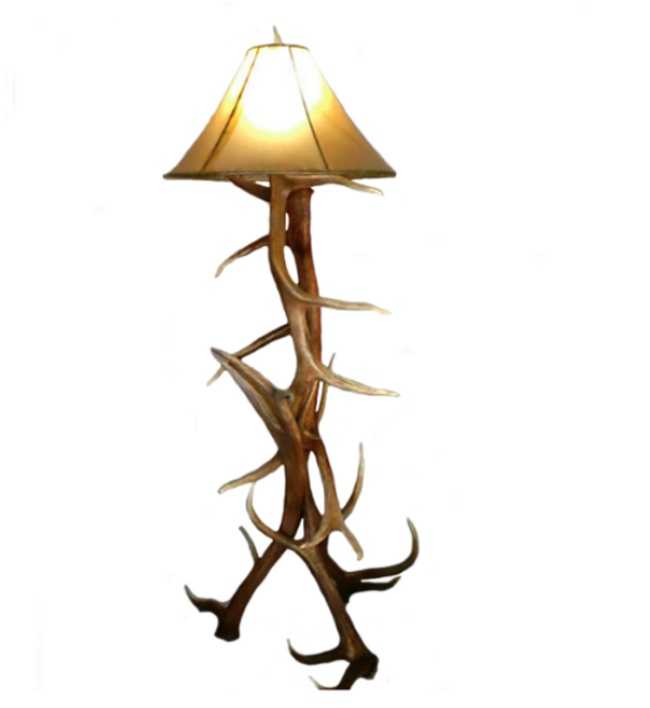 pa art antler eagle peak lamp folk floor elk
