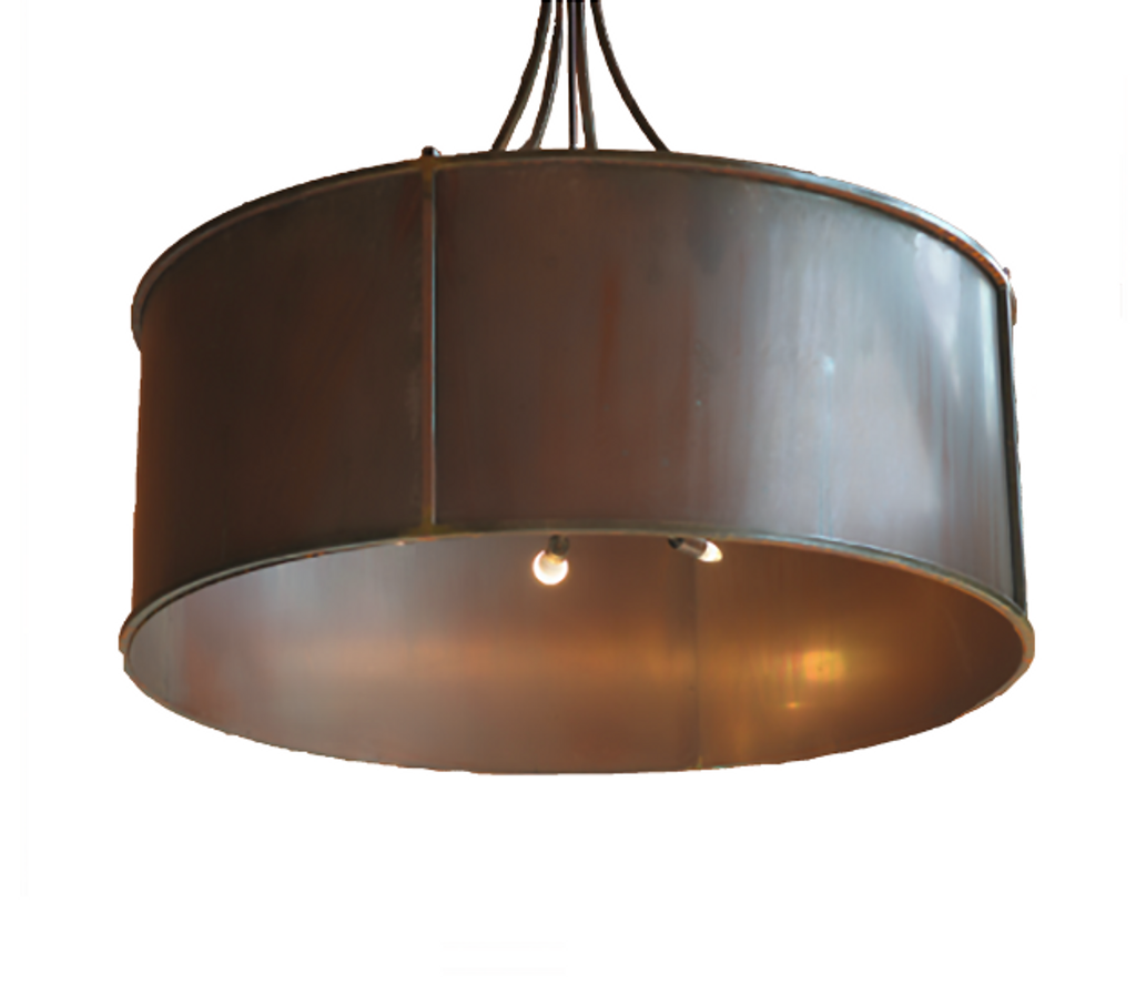 St. James Half Moon Bay Drum Copper Chandelier