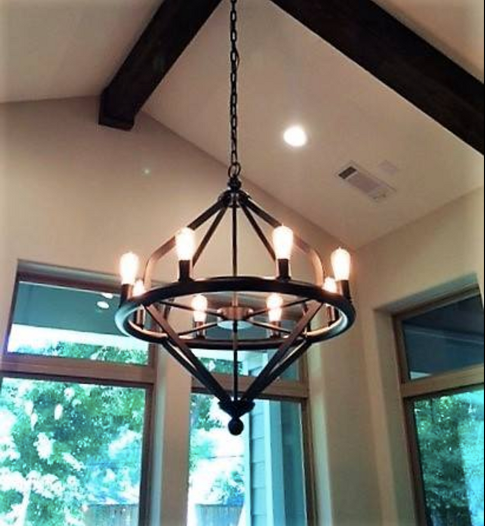 St. James Tahoe Copper Chandelier