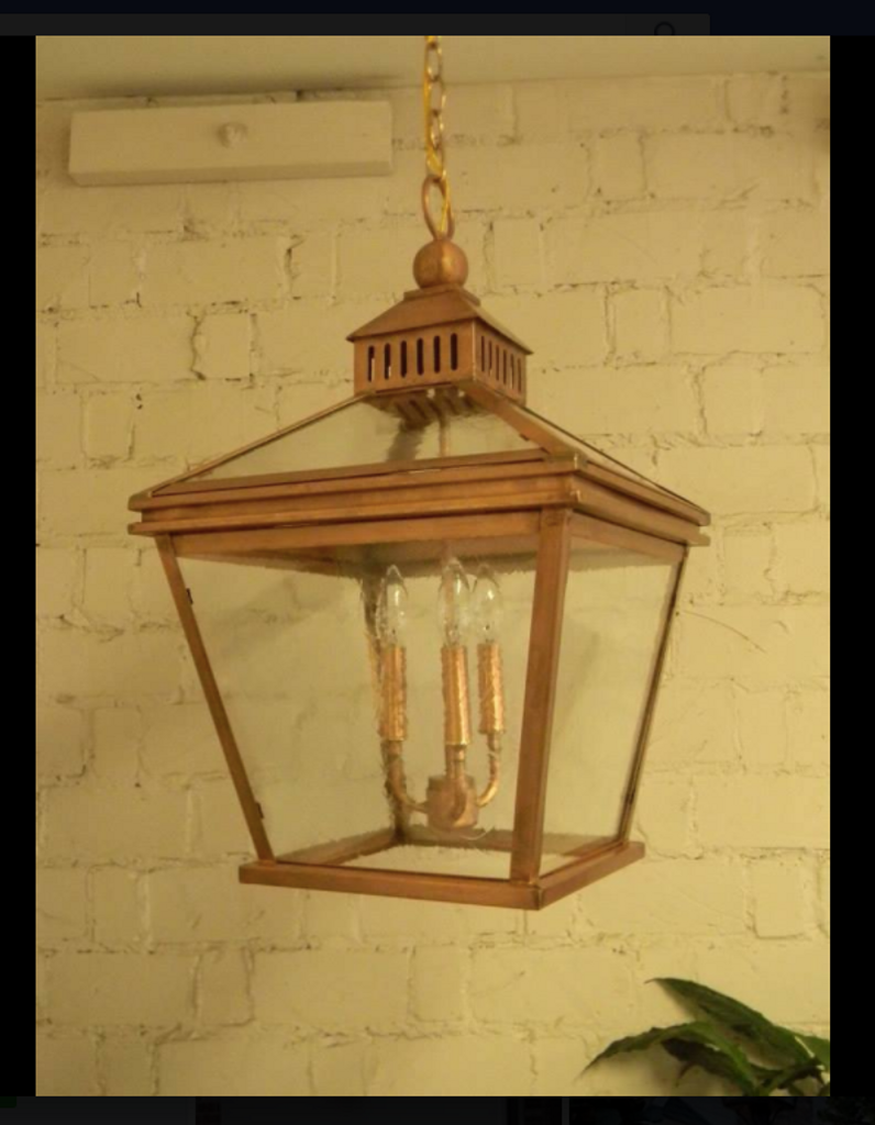St. James Woodstock Copper Lantern