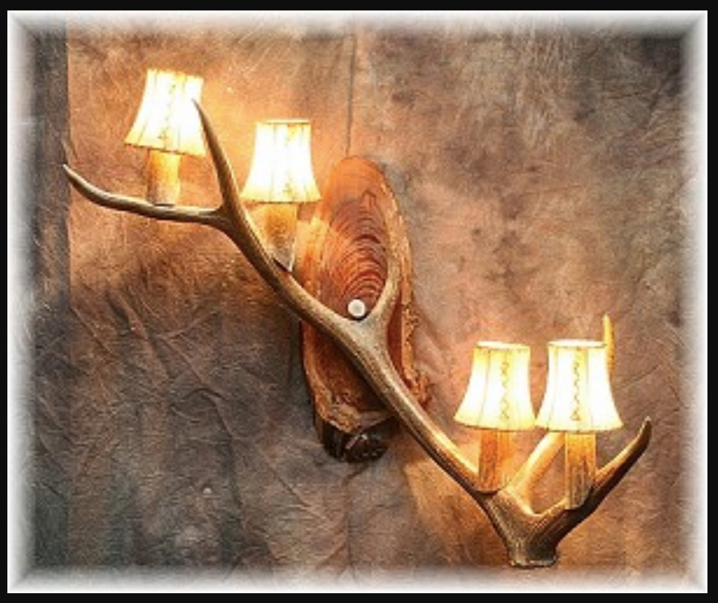mount style lighting deer sconces shop rustic candle buy antler single lights wall decor fixtures lamps sconce