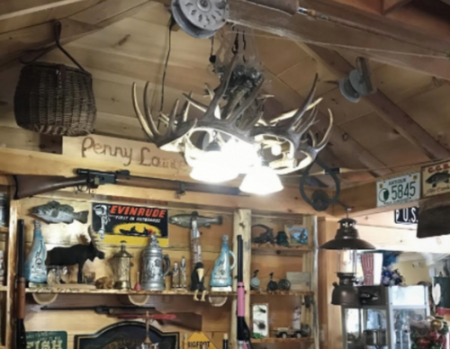 "Coloma Whitetail Cast Antler Chandelier, 3 Down Lights, 32""Wide by 25""Tall"