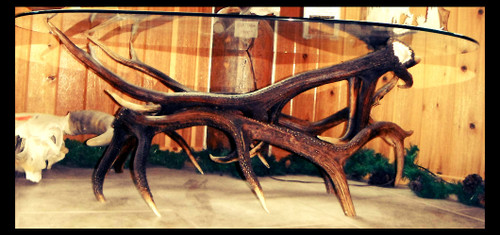 Elk Antler Coffee Table w/Glass