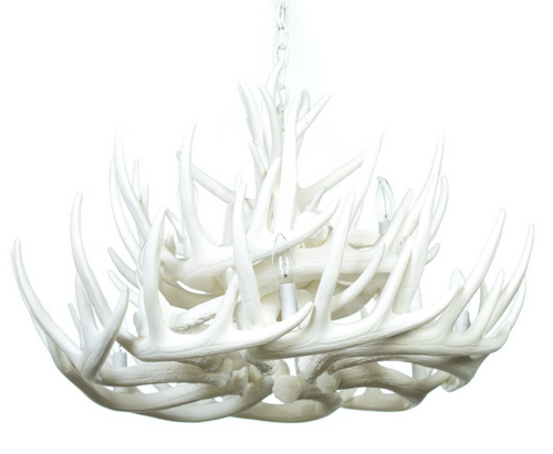 """Monarch Whitetail Cast Antler Chandelier,32""""Wide by 20""""Tall"""