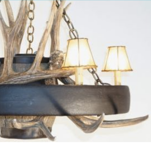 """Rustic and Wild Wagon Wheel Chandelier, Reproduction, 41""""Wide by 23""""Tall"""