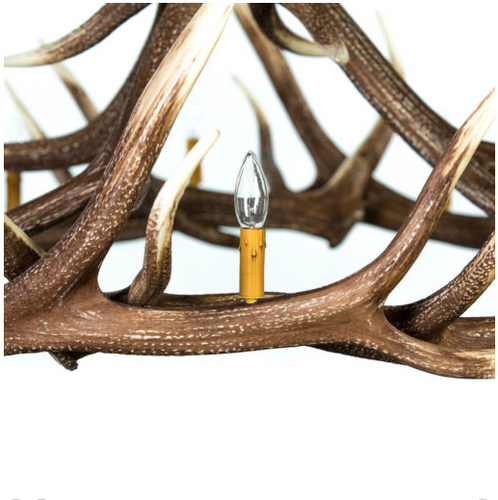 "Big Creek Elk Antler Chandelier, Reproduction,60""Wide by 60""Tall"