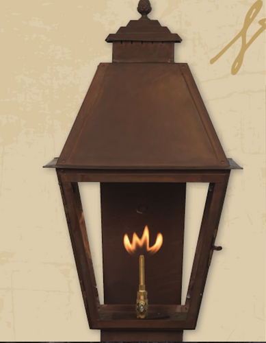 St. James Natchez Copper Lantern