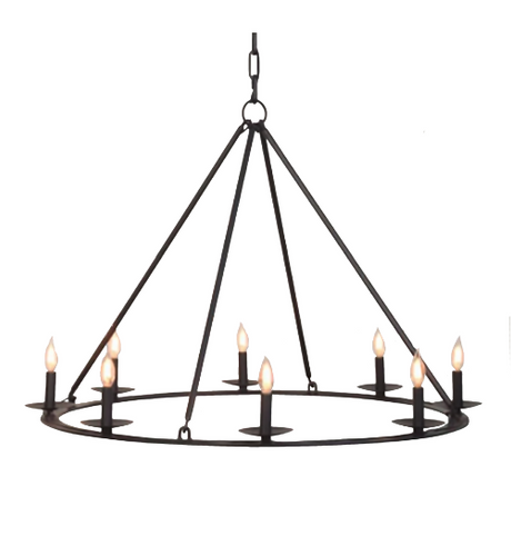 St. James King Arthur Steel Chandelier