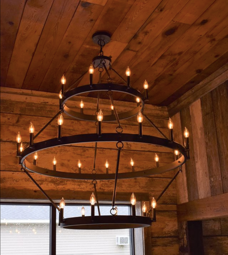 St. James Alexandria Steel Chandelier