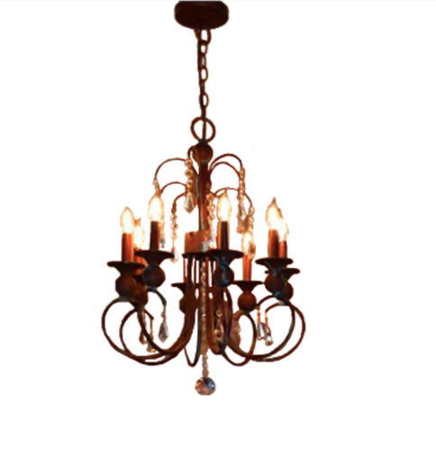 St. James Mardi Gras Copper Chandelier