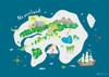 Peter Pan - Neverland Map Print (Various Sizes)