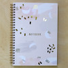 Abstract Sky Notebook - Spiral bound with Gold Foil