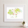 Map of North Yorkshire Art Print