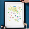 Map of Hampstead & Surrounding Areas Art Print (Various Sizes)