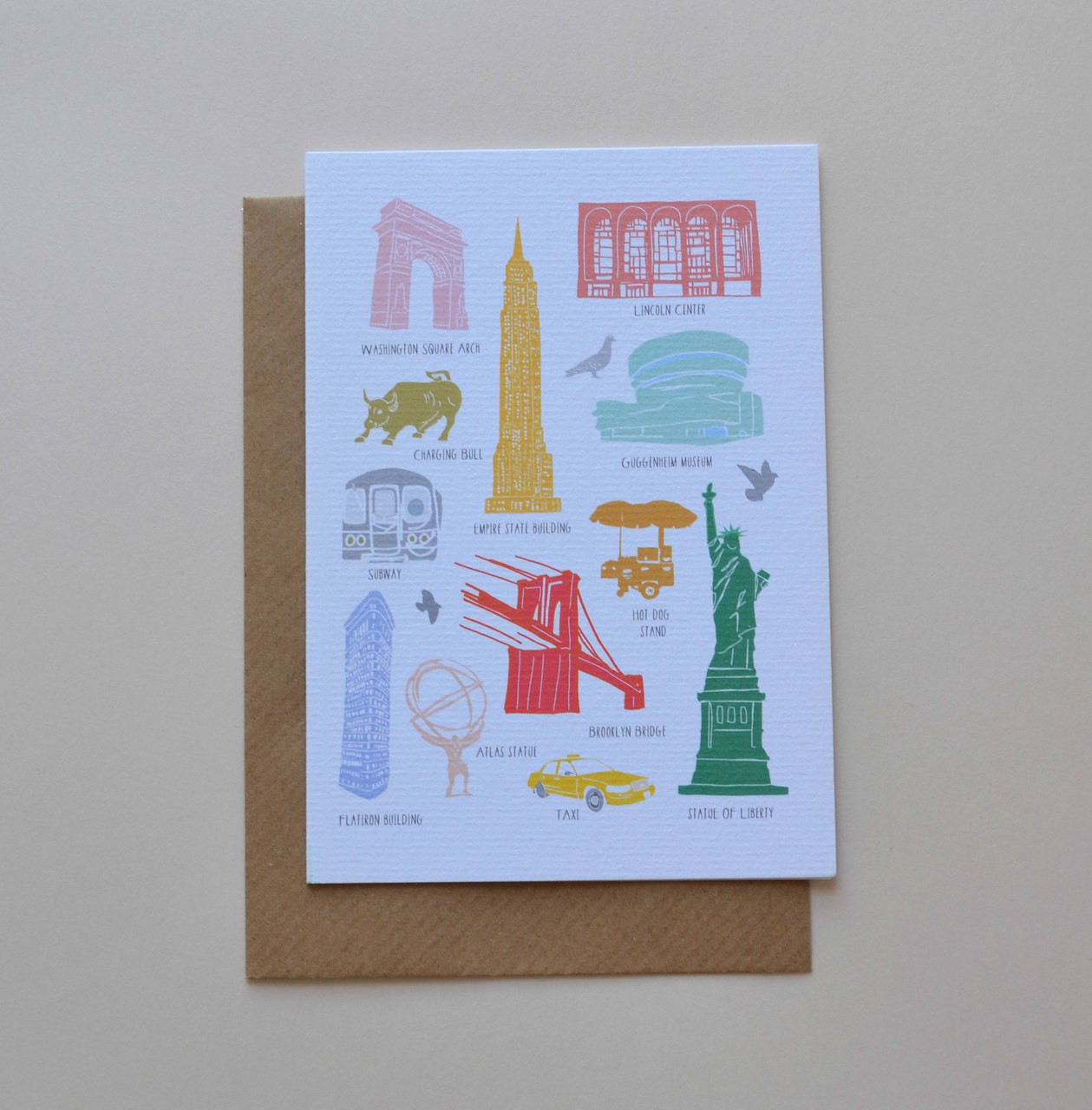 Iconic Buildings Of New York A6 Greeting Card Holly Francesca