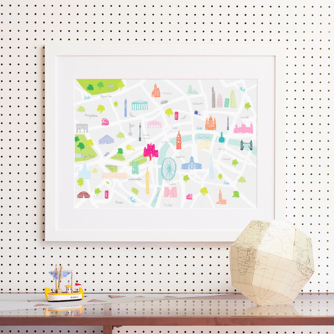 map of london art print various sizes