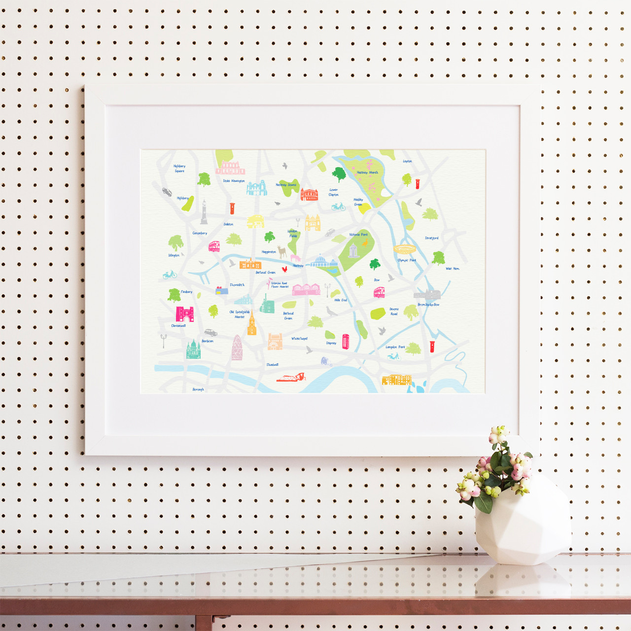 map of east london art print various sizes
