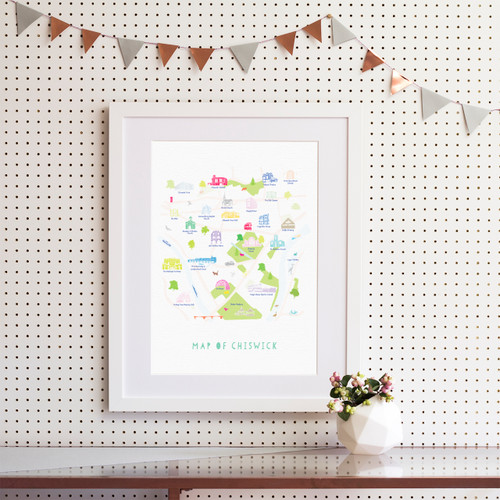 Map of Chiswick Art Print (Various Sizes)