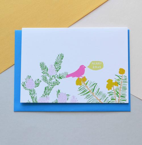 'Pine' A6 Christmas Card
