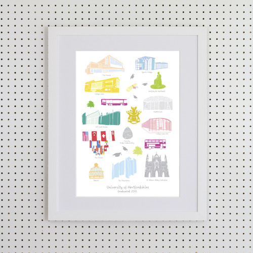 University of Hertforshire Art Print (Various Sizes)