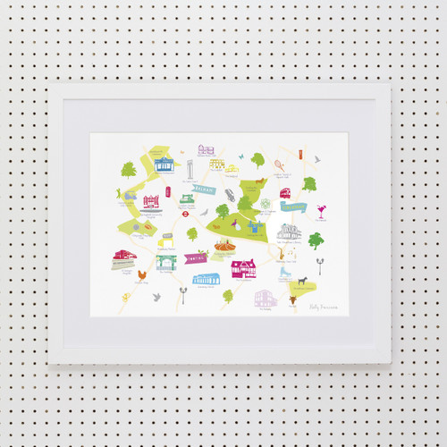 Balham, Tooting & Streatham Art Print (Various Sizes)
