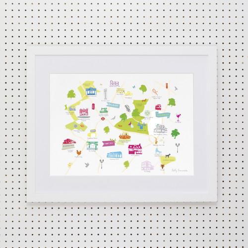 Balham, Tooting & Streatham Art Print (Various Sizes)