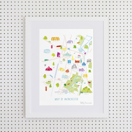Map of Winchester Art Print (Various Sizes)