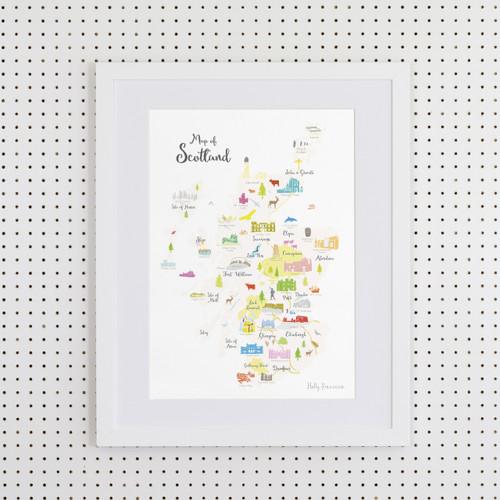 Map of Scotland Art Print (Various Sizes)