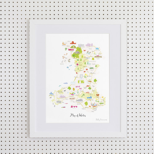 Map of Wales Art Print (Various Sizes)