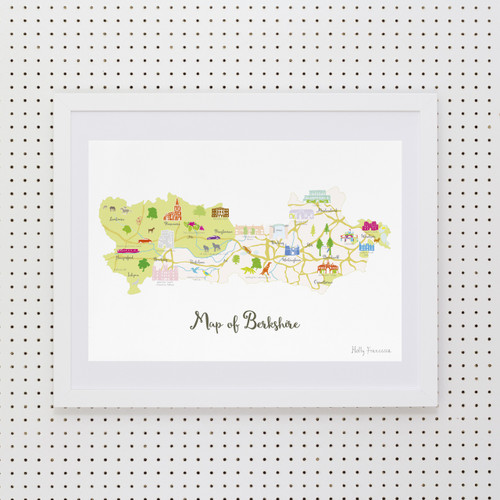 Map of Berkshire Art Print (Various Sizes)
