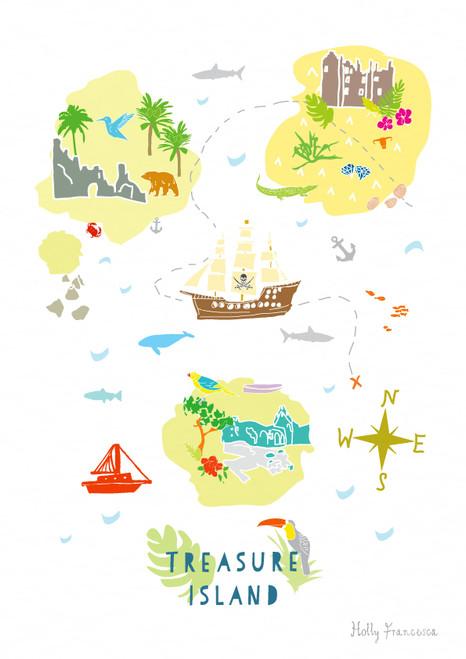 Treasure Map Art Print (Various Sizes)
