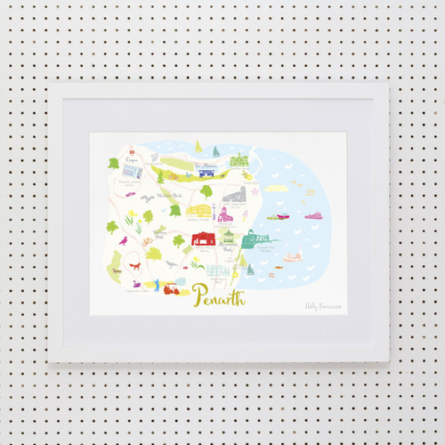 Map of Penarth Art Print (Various Sizes)