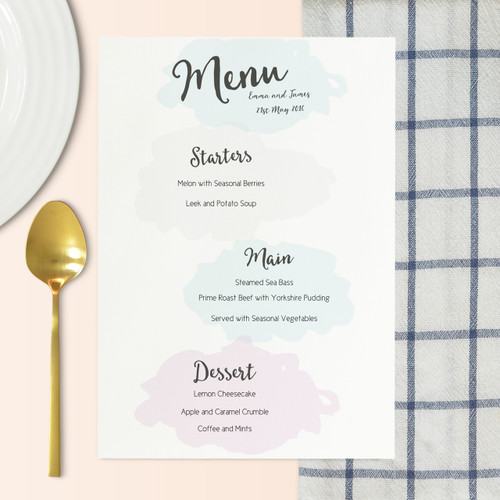 Wedding Menu  Country Set  Holly Francesca