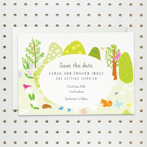 Save the date cards - Add your own wedding venue