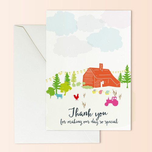 Barn Wedding Thank you card
