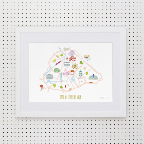 Map of Manchester Art Print (Various Sizes)