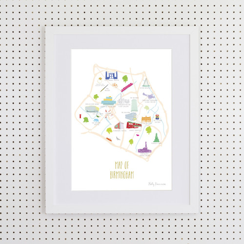 Map of Birmingham Art Print (Various Sizes)