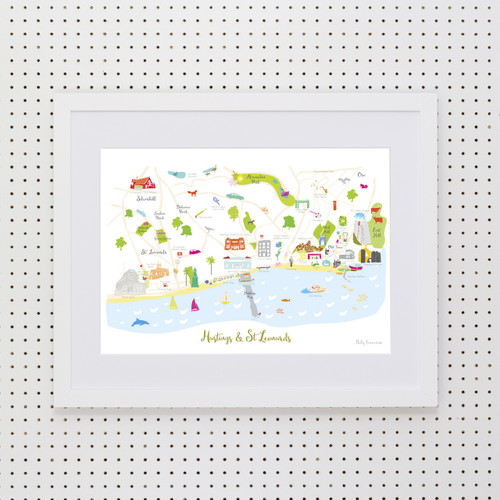 Map of Hastings Art Print (Various Sizes)