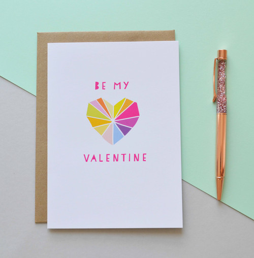 "Be My Valentine 5x7"" Greeting Card"