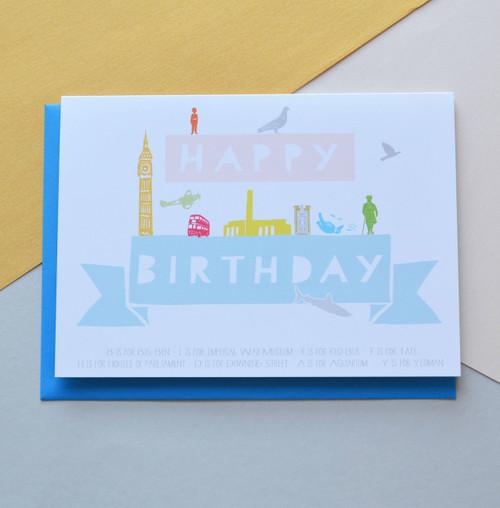 """Happy Birthday London 5x7"""" Birthday Card"""