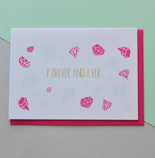 "Forever and Ever 5x7"" Greeting Card"
