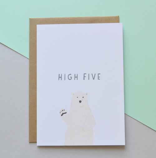 "High Five 5x7"" Greeting Card"