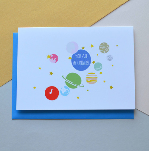 "You are my Universe 5x7"" Greeting Card"