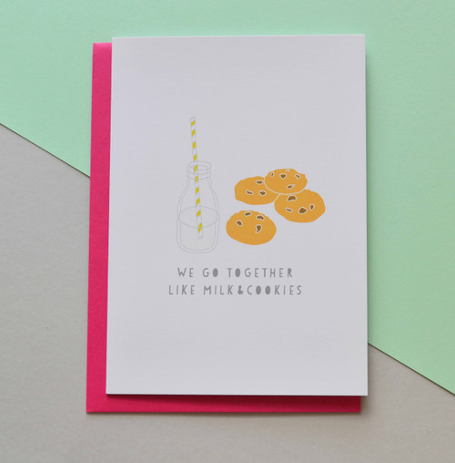 "Milk and Cookies 5x7"" Greeting Card"