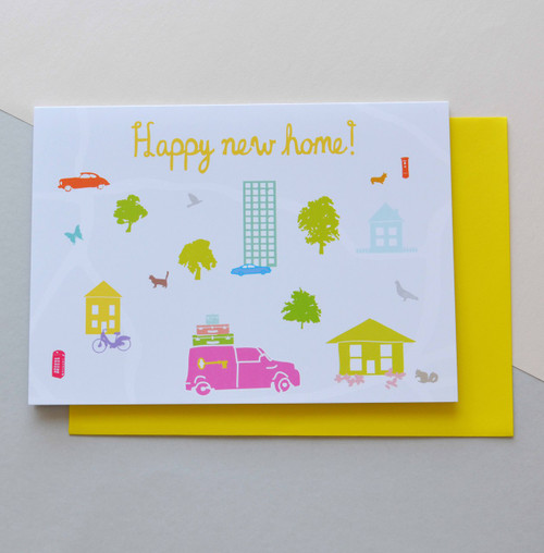 "Happy New Home 5x7"" Greeting Card"